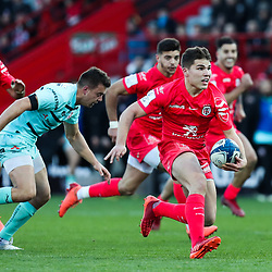 Antoine DUPONT of Toulouse and during the European Rugby Champions Cup, Pool 5 match between Toulouse and Gloucester on January 19, 2020 in Toulouse, France. (Photo by Manuel Blondeau/Icon Sport) - Stade Ernest-Wallon - Toulouse (France)