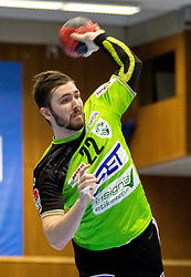 23.02.2018, BSFZ Suedstadt, Maria Enzersdorf, AUT, HLA, SG INSIGNIS Handball WESTWIEN vs Bregenz Handball, Bonus-Runde, 3. Runde, im Bild Julian Schiffleitner (SG INSIGNIS Handball WESTWIEN) // during Handball League Austria, Bonus-Runde, 3 rd round match between SG INSIGNIS Handball WESTWIEN and Bregenz Handball at the BSFZ Suedstadt, Maria Enzersdorf, Austria on 2018/02/23, EXPA Pictures © 2018, PhotoCredit: EXPA/ Sebastian Pucher