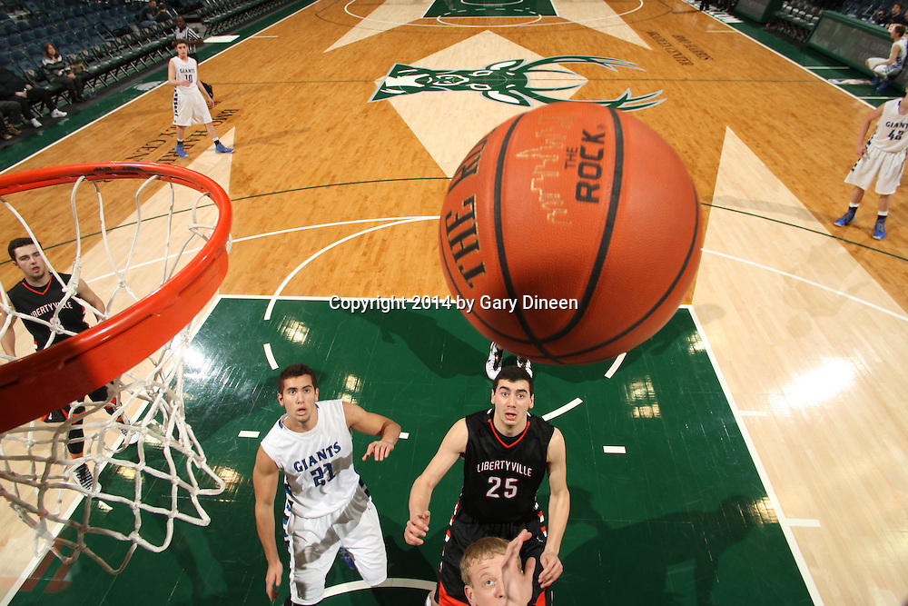 MILWAUKEE, WI - FEBRUARY 8: This image was made during the Maine South vs Addison Trail game as part of the 2013-2014 Prep Series on February 8, 2014 at the BMO Harris Bradley Center in Milwaukee, Wisconsin.