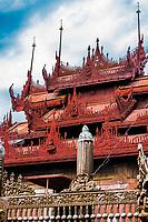 Shwe In Bin Monastery in Mandalay city Myanmar (Burma)