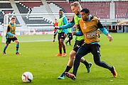 ALKMAAR - 19-10-2016, training persconferentie AZ, AFAS Stadion, AZ speler Rens van Eijden, AZ speler Dabney dos Santos Souza