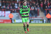 Forest Green Rovers Alex Bray(31) during the EFL Sky Bet League 2 match between Morecambe and Forest Green Rovers at the Globe Arena, Morecambe, England on 17 February 2018. Picture by Shane Healey.
