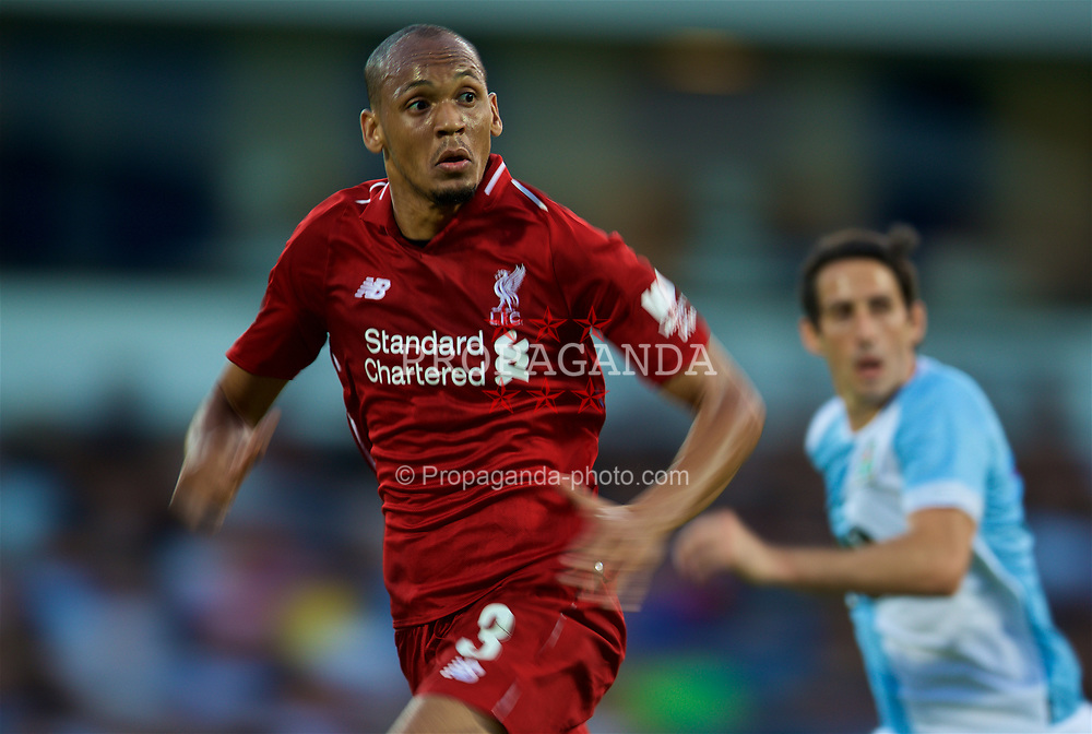 BLACKBURN, ENGLAND - Thursday, July 19, 2018: Liverpool's new signing Fabio Henrique Tavares 'Fabinho' during a preseason friendly match between Blackburn Rovers FC and Liverpool FC at Ewood Park. (Pic by David Rawcliffe/Propaganda)