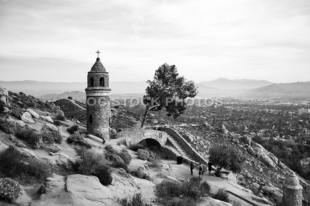 World Peace Tower and Friendship Bridge on Mt. Rubidoux in Riverside