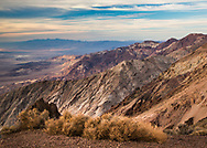 Sunset glow at Dante's View in Death Valley