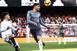 February 10, 2019 - Valencia, Spain - Theo Hernandez of Real Sociedad during  spanish La Liga match between Valencia CF v Real Sociedad at Mestalla Stadium on February 10, 2019. (Photo by Jose Miguel Fernandez/NurPhoto) (Credit Image: © Jose Miguel Fernandez/NurPhoto via ZUMA Press)