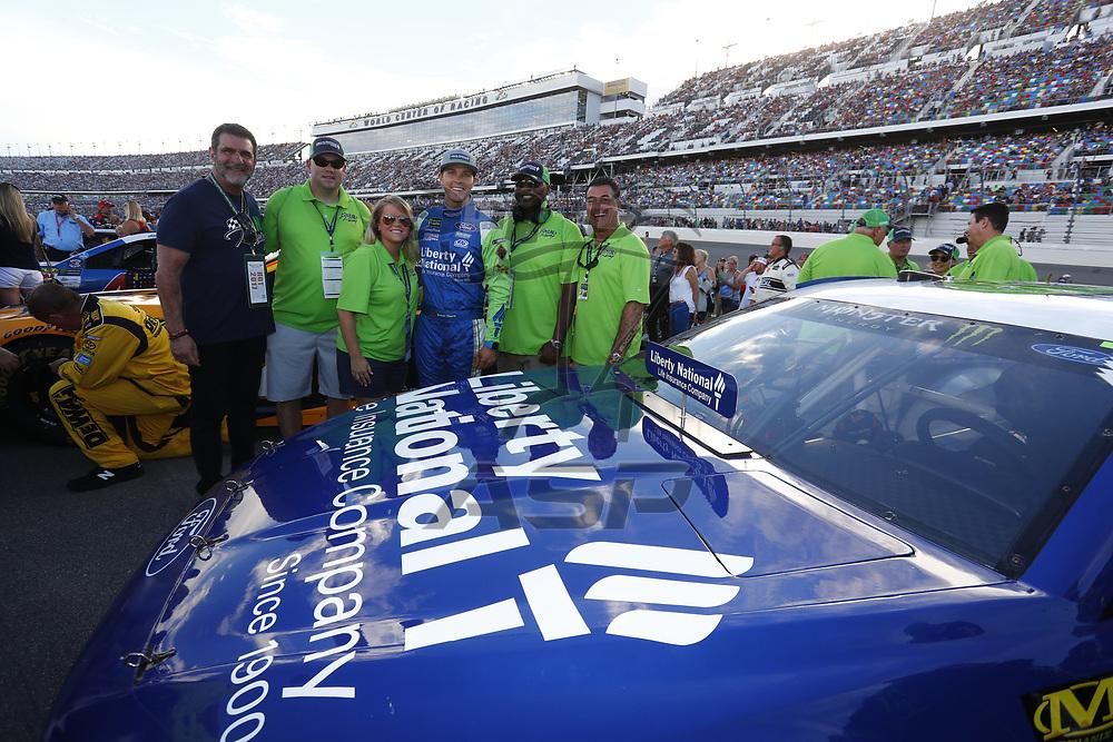 July 01, 2017 - Daytona Beach, FL, USA: The Monster Energy NASCAR Cup Series teams take to the track for the Coke Zero 400 at Daytona International Speedway in Daytona Beach, FL.