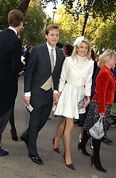LADY EMILY COMPTON and JAMIE ALLSOPP at the wedding of Clementine Hambro to Orlando Fraser at St.Margarets Westminster Abbey, London on 3rd November 2006.<br />