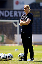 SWANSEA, WALES - Wednesday, June 6, 2018: Wales' manager Jayne Ludlow during a training session at the Liberty Stadium ahead of the FIFA Women's World Cup 2019 Qualifying Round Group 1 match against Bosnia and Herzegovina. (Pic by David Rawcliffe/Propaganda)
