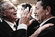 Guglielmo Epifani e Ignazio Marino durante i festeggiamenti per l'elezione del nuovo sindaco di Roma. Roma, 10 giugno 2013. Christian Mantuano / OneShot
