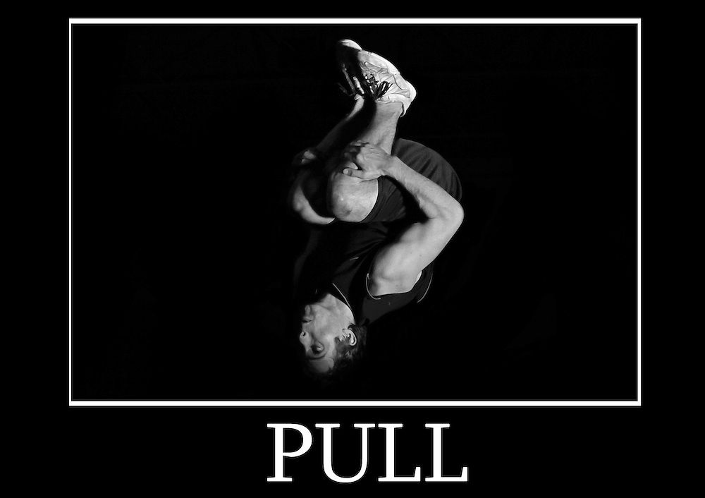 Motivational cheerleading poster of a standing back tuck after jumps. Caption underneath reads &quot;pull&quot;<br /> Measures 33 x 23.5 inches/A1     &pound;9.99