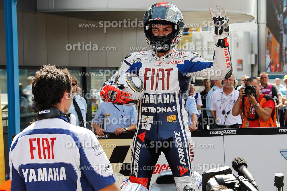 27.06.2010, Assen, NLD, MotoGP, TIM TT Assen, im Bild Jorge Lorenzo - Fiat Yamaha team. EXPA Pictures © 2010, PhotoCredit: EXPA/ InsideFoto/ Semedia +++ for AUT and SLO only +++ / SPORTIDA PHOTO AGENCY