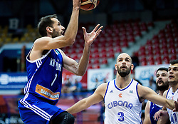 Balsa Radunovic of KK Mornar vs Zeljko Sakic of Cibona during basketball match between KK Cibona Zagreb (CRO) and KK Mornar (MNE) in Round #4 of FIBA Champions League 2016/17, on November 9, 2016 in Drazen Petrovic Basketball center, Zagreb, Croatia. Photo by Vid Ponikvar / Sportida