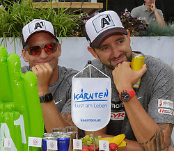 29.07.2014, Klagenfurt, Strandbad, AUT, A1 Beachvolleyball Grand Slam 2014, im Bild Clemens Doppler 1 AUT/ Alexander Horst 2 AUT // during the A1 Beachvolleyball Grand Slam at the Strandbad Klagenfurt, Austria on 2014/07/29. EXPA Pictures © 2014, EXPA Pictures © 2014, PhotoCredit: EXPA/ Mag. Gert Steinthaler