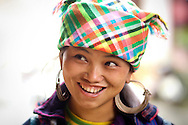 Portrait of a cheerful Hmong woman in Sapa, Vietnam, Southeast Asia
