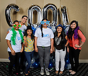 Houston ISD students pose for pictures during the Cool2BSmart celebration, May 18, 2014.