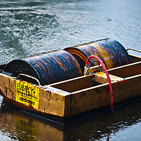 "Oil ""skimmer"" gatheres up oil spill in Liberty Park, Salt Lake City"