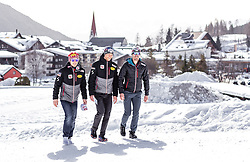 20.02.2019, Seefeld, AUT, FIS Weltmeisterschaften Ski Nordisch, Seefeld 2019, Nordische Kombination Reportage, im Bild Franz Josef Rehrl (AUT), Bernhard Gruber (AUT), Lukas Klapfer (AUT) // Franz Josef Rehrl of Austria, Bernhard Gruber of Austria, Lukas Klapfer of Austria during a Photoseries of Austrian Nordic Combined Team for the FIS Nordic Ski World Championships 2019. Seefeld, Austria on 2019/02/20. EXPA Pictures © 2019, PhotoCredit: EXPA/ JFK