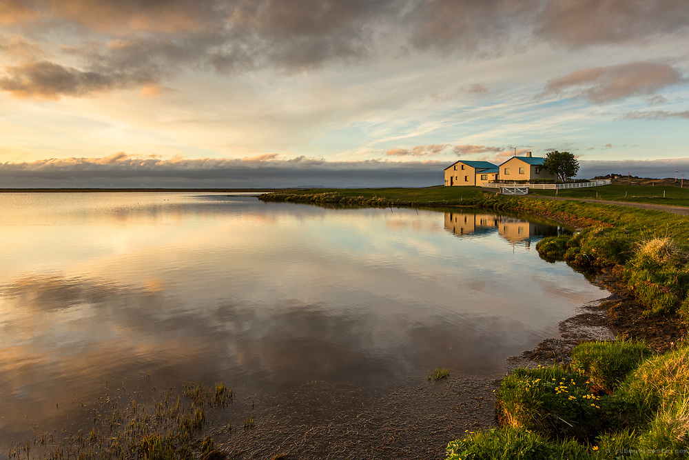House by the lake. Iceland