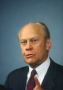 Former U.S. President Gerald Ford speaks at the Press Club June 12, 1996 in Washington, DC.