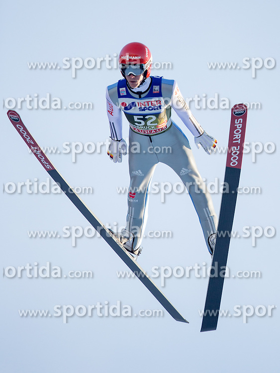 03.01.2017, Bergiselschanze, Innsbruck, AUT, FIS Weltcup Ski Sprung, Vierschanzentournee, Innsbruck, Qualifikation, im Bild Stephan Leyhe (GER) // Stephan Leyhe of Germany during his Qualification Jump for the Four Hills Tournament of FIS Ski Jumping World Cup at the Bergiselschanze in Innsbruck, Austria on 2017/01/03. EXPA Pictures © 2017, PhotoCredit: EXPA/ Jakob Gruber