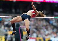 Athletics - 2017 IAAF London World Athletics Championships - Day Two (AM Session)<br /> <br /> Event: High Jump Women - Heptathlon<br /> <br /> Eliska Klucinova (CZE) leaps towards the bar in an attempt to clear  <br /> <br /> COLORSPORT/DANIEL BEARHAM