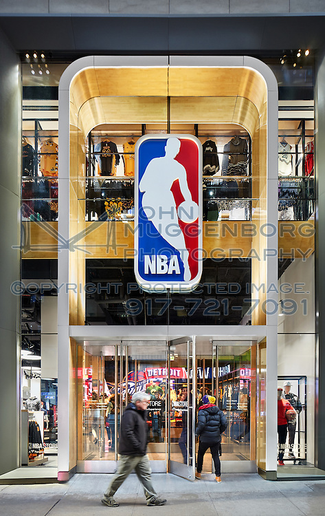 The NBA store on 5th Avenue in NYC photographed by John Muggenborg.