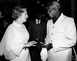 Aug. 4, 1979 - Nairobi, Kenya, Africa - The first female British Prime Minister (from 1979-1990) MARGARET THATCHER, with Zambian President KENNETH KAUNDA. (Credit Image: © Keystone Press Agency/Keystone USA via ZUMAPRESS.com)