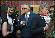 ;VICTORIA SIDDALL; ALASTAIR LAING; EDMONDO DI ROBILANT; PETER GLIDEWELL, Drinks party to launch this year's Frieze Masters.Hosted by Charles Saumarez Smith and Victoria Siddall<br />  Academicians' room - The Keepers House. Royal Academy. Piccadilly. London. 3 July 2014