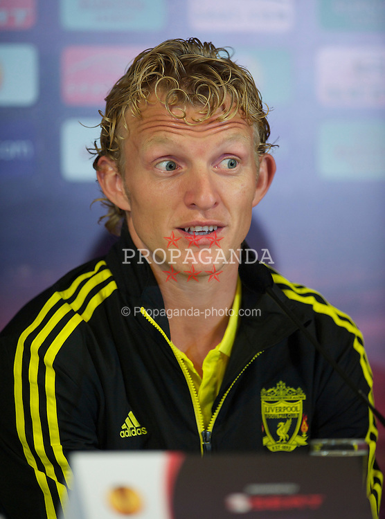 UTRECHT, THE NETHERLANDS - Wednesday, September 29, 2010: Liverpool's Dirk Kuyt during a press conference at the Stadion Galgenwaard ahead of the UEFA Europa League Group K match against FC Utrecht. (Photo by David Rawcliffe/Propaganda)