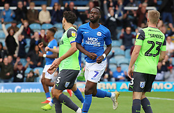 Mohamed Eisa of Peterborough United celebrates scoring his second goal of the game to make it 3-1 - Mandatory by-line: Joe Dent/JMP - 28/09/2019 - FOOTBALL - Weston Homes Stadium - Peterborough, England - Peterborough United v AFC Wimbledon - Sky Bet League One