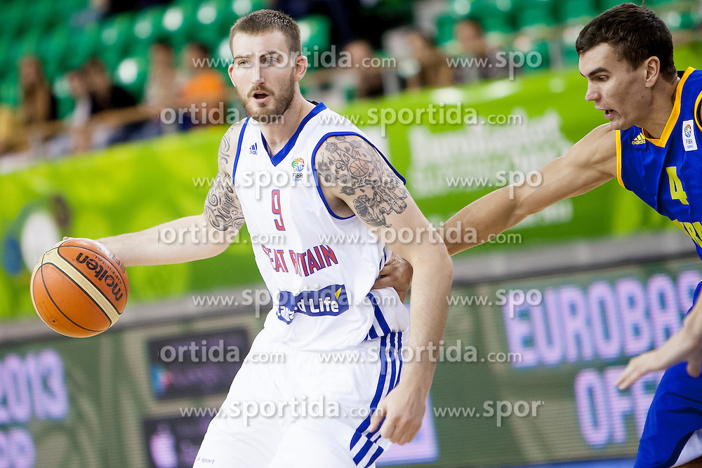 Gareth Murray #9 of Great Britain during basketball match between National teams of Ukraine and Great Britain at Day 6 of Eurobasket 2013 on September 9, 2013 in Tivoli Hall, Ljubljana, Slovenia. (Photo By Urban Urbanc / Sportida)