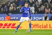 Leicester City forward Jamie Vardy (9) during the Premier League match between Leicester City and West Ham United at the King Power Stadium, Leicester, England on 22 January 2020.