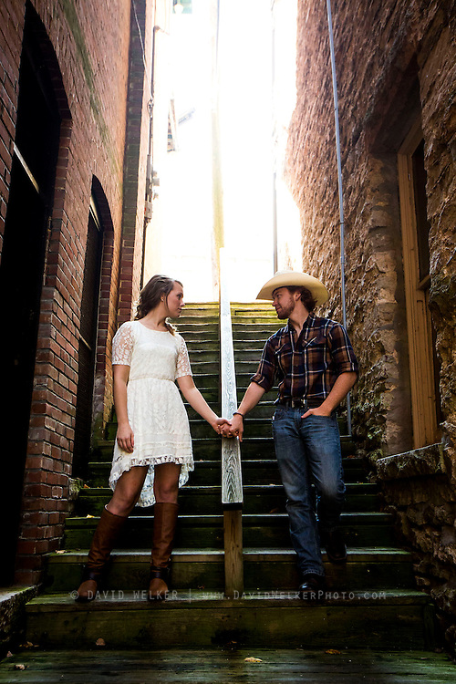Images from the engagement shoot of Ryan and Lynnsey on November 1, 2013 in Eureka Springs, Arkansas. (David Welker)