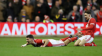 Football - 2017 / 2018 FA Cup - Third Round: Nottingham Forest vs. Arsenal<br /> <br /> Mathieu Debuchy of Nottingham Forrest celebrates scoring his first goal at the City Ground.<br /> <br /> COLORSPORT/LYNNE CAMERON