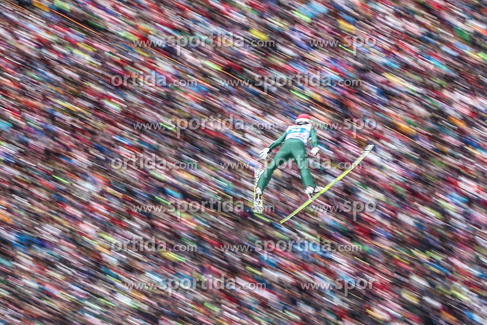 04.01.2014, Bergisel Schanze, Innsbruck, AUT, FIS Ski Sprung Weltcup, 62. Vierschanzentournee, Innsbruck, Bewerb, im Bild Jarkko Maeaettae (FIN) // Jarkko Maeaettae (FIN) during Competition of 62nd Four Hills Tournament of FIS Ski Jumping World Cup at the Bergisel Schanze in Innsbruck, Austria on 2014/01/04. EXPA Pictures © 2014, PhotoCredit: EXPA/ JFK