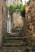 Albania, Piluri, stone staircase