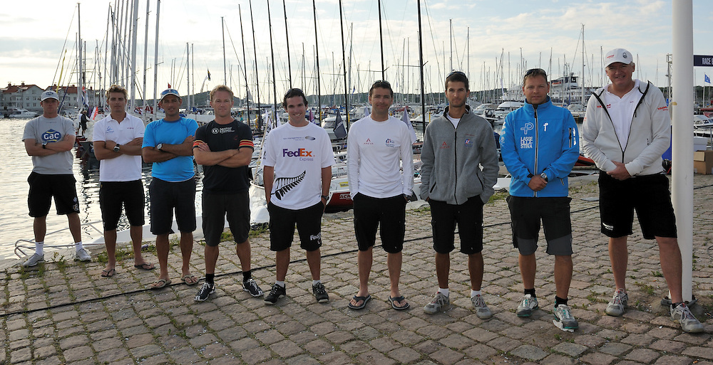 The nine tour card holders meet in Sweden. Photo: Chris Davies/WMRT