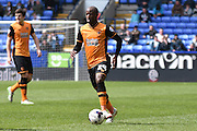 HUll City Forward, Sone Aluko in action during the Sky Bet Championship match between Bolton Wanderers and Hull City at the Macron Stadium, Bolton, England on 30 April 2016. Photo by Mark Pollitt.
