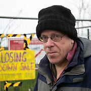 "Nick Danby.<br /> ""We have just completed our second anniversary of Cuadrilla being here in Preston New Road. As far as we can tell they haven't done any fracking since end of November. We are waiting for an announcement of what is going on, a lot of equipment has come off the site. We think they are going to embark upon extended flow testing but we dont know for sure. That in itself really means the company who say they want to build a good relationship with the community is doing nothing of the sort, they are being very tight lipped, not serving the community well and they are only interested, as far as I can see, in keeping their investors and share holders sweet. We think the tide is turning against fracking. At the weekend two national news papers had front page headlines saying that fracking is a dead duck. We fought for two years and we will carry on as long as we need to to put this industry to bed. Fracking should not be the future, the future should be clean and green.""<br /> It is Green Monday and first week of the second anniversary of Cuadrilla's fracking exploration in Preston New Road. For two years activists have been keeping an eye on the fracking company Cuadrilla from the roadside of the fracking site in Preston New Road. The company has not actively fracked since November and is currently seemingly busy emptiyng the site for heavy equipment. Prostesters and climate protectors are still by the gates trying to work out Cuadrilla's intensions."