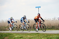 Julia Soek (NED), Trixi Worrack (GER) and Lotta Lepistö (FIN) on lap four at Healthy Ageing Tour 2019 - Stage 5, a 124.3 km road race in Midwolda, Netherlands on April 14, 2019. Photo by Sean Robinson/velofocus.com