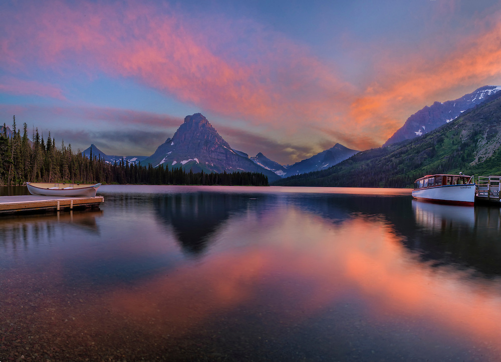 Two Medicine Lake, Glacier National Park, MT.