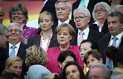 17.07.2011, Commerzbankarena, Frankfurt, GER, FIFA Women Worldcup 2011, Finale,  Japan (JPN) vs. USA (USA), im Bild:  .Angela Merkel.. // during the FIFA Women Worldcup 2011, final, Japan vs USA on 2011/07/11, FIFA Frauen-WM-Stadion Frankfurt, Frankfurt, Germany.   EXPA Pictures © 2011, PhotoCredit: EXPA/ nph/  Mueller       ****** out of GER / CRO  / BEL ******