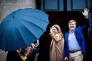 17-1-2018 AMSTERDAM - King Willem-Alexander and Queen Maxima hold Wednesday , January 17th, 2018 the traditional New Year Reception for Dutch guests. The receptions are held in the Royal Palace in Amsterdam. Both receipts Royal Highnesses Princess Beatrix and Princess Margriet of the Netherlands and Professor Pieter van Vollenhoven present. COPYRIGHT ROBIN UTRECHT