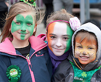 18/03/2013   Elena Kalina,  Caitlin O Connell And Ivan  from Ardrahan at the Gort St Patrick's Day Parade. Picture:Andrew Downes.