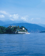 View of the Isola Bella Garden and Lake Maggiore,<br /> Lombardy, Italy