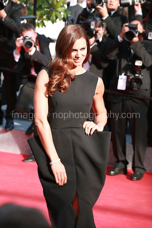 Claudia Vieira at Sils Maria gala screening red carpet at the 67th Cannes Film Festival France. Friday 23rd May 2014 in Cannes Film Festival, France.