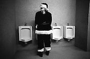 Père Noël; toilette; humour