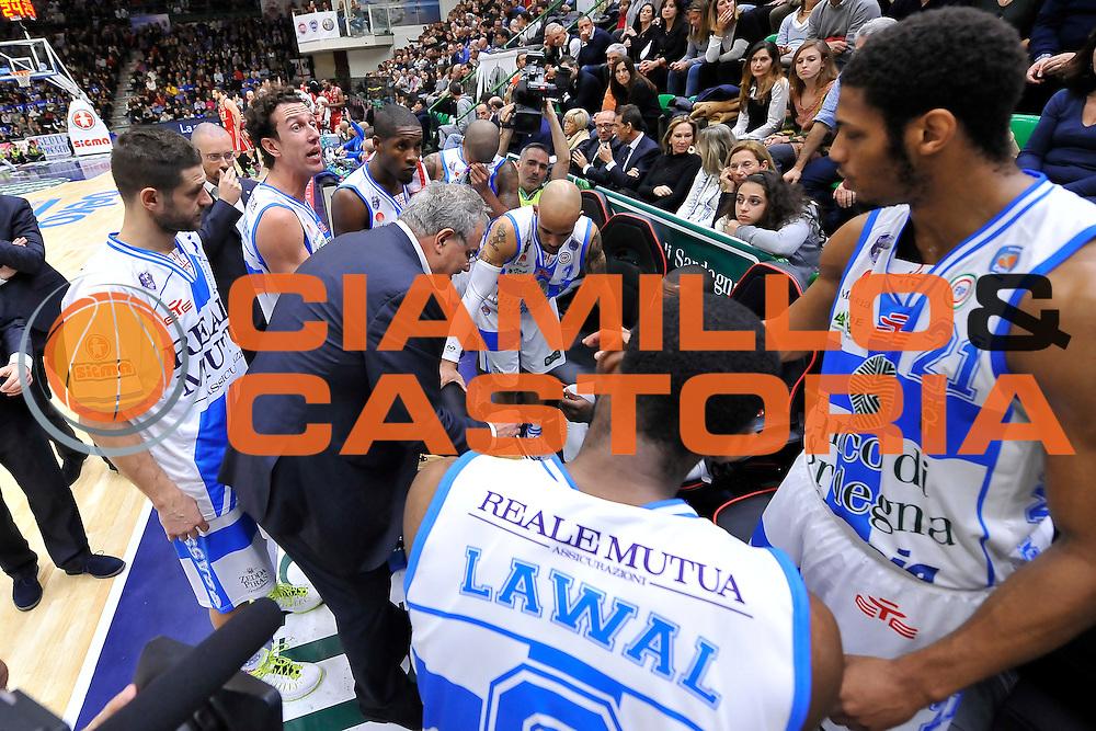 DESCRIZIONE : Campionato 2014/15 Dinamo Banco di Sardegna Sassari - Olimpia EA7 Emporio Armani Milano<br /> GIOCATORE : Romeo Sacchetti<br /> CATEGORIA : Allenatore Coach Time Out<br /> SQUADRA : Dinamo Banco di Sardegna Sassari<br /> EVENTO : LegaBasket Serie A Beko 2014/2015<br /> GARA : Dinamo Banco di Sardegna Sassari - Olimpia EA7 Emporio Armani Milano<br /> DATA : 07/12/2014<br /> SPORT : Pallacanestro <br /> AUTORE : Agenzia Ciamillo-Castoria / Luigi Canu<br /> Galleria : LegaBasket Serie A Beko 2014/2015<br /> Fotonotizia : Campionato 2014/15 Dinamo Banco di Sardegna Sassari - Olimpia EA7 Emporio Armani Milano<br /> Predefinita :