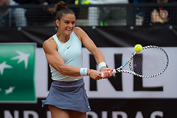 May 14, 2019 - Rome, ITALY - Maria Sakkari of Greece in action during her first-round match at the 2019 Internazionali BNL d'Italia WTA Premier 5 tennis tournament (Credit Image: © AFP7 via ZUMA Wire)